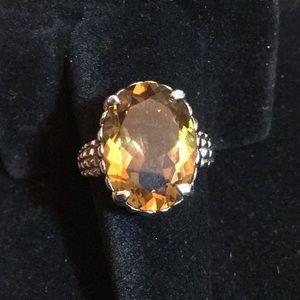 Genuine Golden Citrine Ring